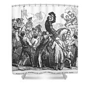 New York: Washington, 1776 Shower Curtain