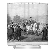 New York: Washington, 1783 Shower Curtain