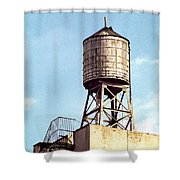 New York Water Tower 1 - New York Scenes  Shower Curtain