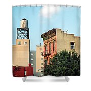 New York Water Tower 3 Shower Curtain