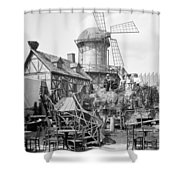 New York Windmill, C1905 Shower Curtain