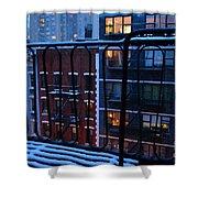 New York Window - Fire Escape In Winter Shower Curtain