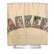 New York Yankees Poster Art Shower Curtain