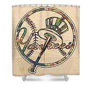 New York Yankees Poster Vintage Shower Curtain