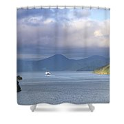 New Zealand Ferry  Shower Curtain