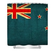 New Zealand Flag Vintage Distressed Finish Shower Curtain