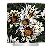 New Zealand Flowering Beauties Shower Curtain
