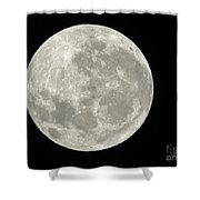 New Zealand Moon Shower Curtain