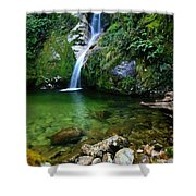 New Zealand Mountain Pure Shower Curtain