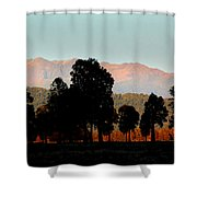 New Zealand Silhouette Shower Curtain
