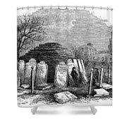 Newark Cemetery, 1876 Shower Curtain
