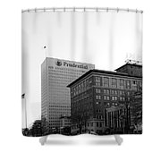 Newark  New Jersey In Black And White Shower Curtain