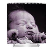 Newborn Baby Shower Curtain