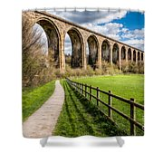 Newbridge Rail Viaduct Shower Curtain