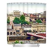 Newcastle Upon Tyne Quayside Shower Curtain