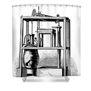 Newcomens Steam Engine, 18th Century Shower Curtain
