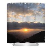 Newfound Gap Sunrise - D008233 Shower Curtain