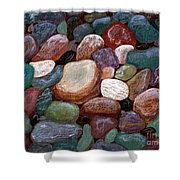 Newfoundland Beach Rocks 2  Shower Curtain