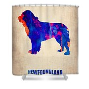Newfoundland Poster Shower Curtain by Naxart Studio