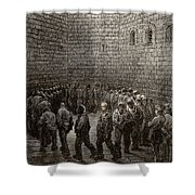 Newgate Prison Exercise Yard Shower Curtain