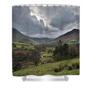 Newlands Valley Lake District National Park Shower Curtain
