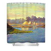 Newport Back Bay In Light Shower Curtain