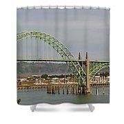 Newport Bay Bridge Shower Curtain