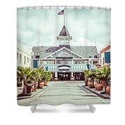 Newport Beach Balboa Main Street Vintage Picture Shower Curtain
