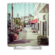 Newport Beach Main Street Balboa Peninsula Picture Shower Curtain