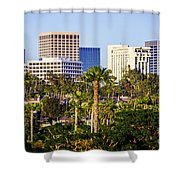 Newport Beach Skyline Picture Shower Curtain