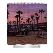 Newport Beach Sunset Shower Curtain
