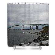 Newport Bridge  -  Rhode Island Shower Curtain