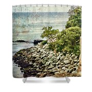 Newport Cliff Walk Shower Curtain