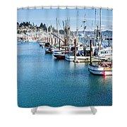 Newport Fishing Fleet  Shower Curtain