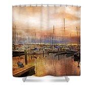Newport Rhode Island Harbor I Shower Curtain