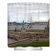 Newport Rhode Island Harbor Ivi Shower Curtain