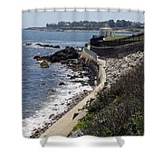 Newport's Cliff Walk View Shower Curtain