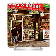 News And Smoke - Play Here Shower Curtain