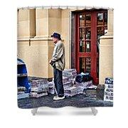 Newspaper Seller Shower Curtain