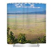 Ngorongoro Crater In Tanzania Africa Shower Curtain