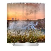 Niagara Falls Canada Sunrise Shower Curtain