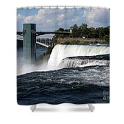Niagara Falls Closeup And Observation Tower Shower Curtain