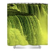 Niagara Falls Closeup Hot Wax Effect Shower Curtain