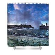Niagara Falls Dramatic Panoramic Scenery Shower Curtain