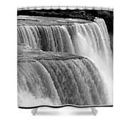 Niagara Falls In Black And White Shower Curtain
