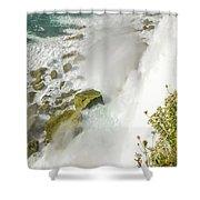 Niagara Falls On The Rocks Shower Curtain