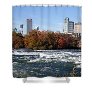 Niagara Falls Skyline From New York Shower Curtain