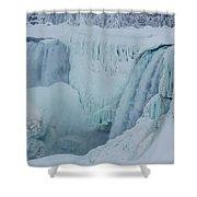 Niagara Falls Usa In Winter Shower Curtain