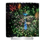Niagara Fireworks 1 Shower Curtain