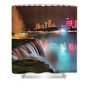 Niagara Starbust Skyline Panorama Shower Curtain